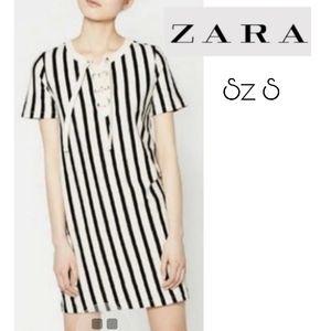 Zara trafaluc referee jersey dress Sz sm. NEW